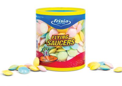 Koker plastic met logo voor snoepgoed