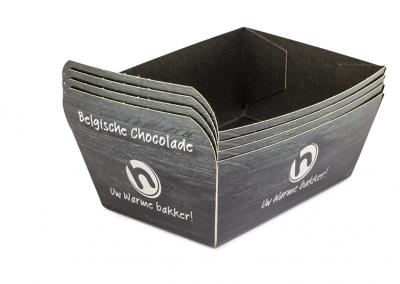 Conisch bakje van vouwkarton voor chocolade branche food